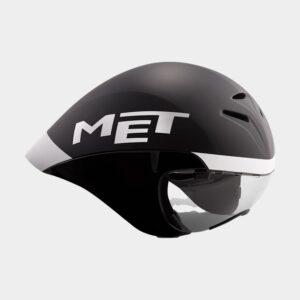 Cykelhjälm MET Drone Black White Matt Glossy, Medium (54 - 58 cm)