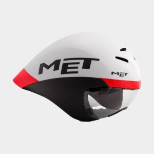 Cykelhjälm MET Drone White Black Red Matt, Medium (54 - 58 cm)