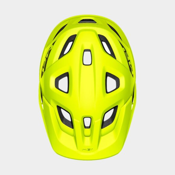 Cykelhjälm MET Echo Lime Green/Matt, Medium / Large (57 - 60 cm)