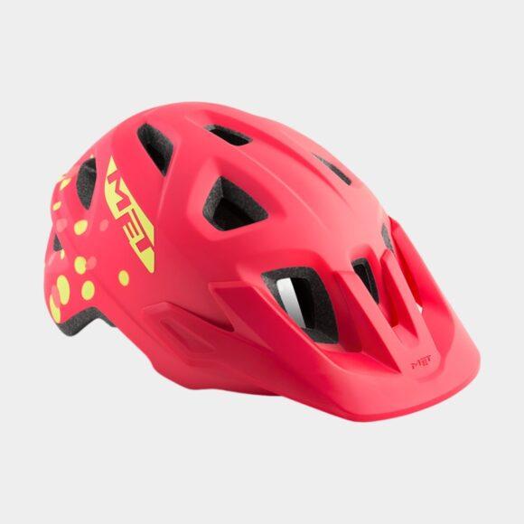 Cykelhjälm MET Eldar Coral Pink Polka Dots/Matt, Universal (52 - 57 cm)