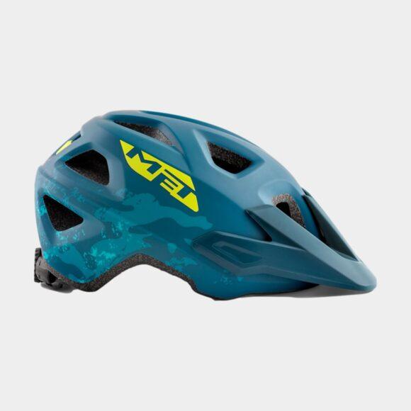 Cykelhjälm MET Eldar Petrol Blue Camo/Matt, Universal (52 - 57 cm)
