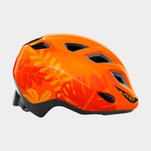 Cykelhjälm MET Elfo Orange Jungle/Glossy, grönt spänne, Universal (46 - 53 cm)
