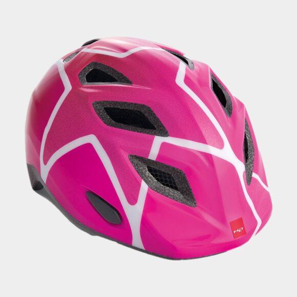 Cykelhjälm MET Elfo Pink Stars/Glossy, Universal (46 - 53 cm)
