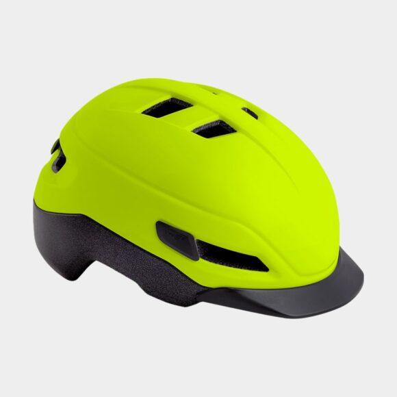 Cykelhjälm MET Grancorso Safety Yellow/Matt/Reflective, Small (52 - 56 cm)