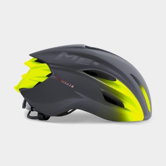 Cykelhjälm MET Manta MIPS Grey Fluo Yellow/Matt Glossy, Small (52 - 56 cm)