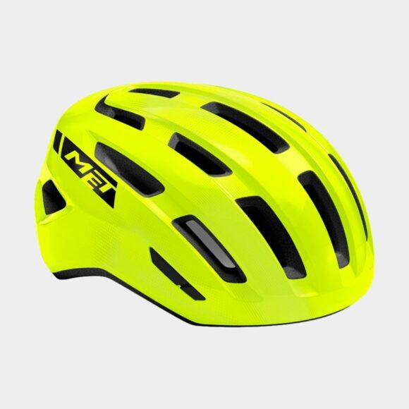 Cykelhjälm MET Miles Safety Yellow/Glossy, Small / Medium (52 - 58 cm)