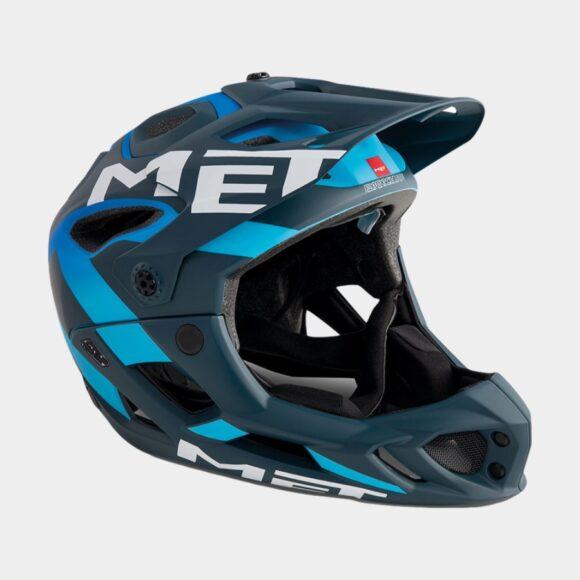 Cykelhjälm MET Parachute Blue Shaded Cyan/Matt, Large (59 - 62 cm)