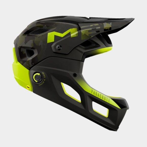 Cykelhjälm MET Parachute MCR MIPS Camo Lime Green/Matt Glossy, Small (52 - 56 cm)