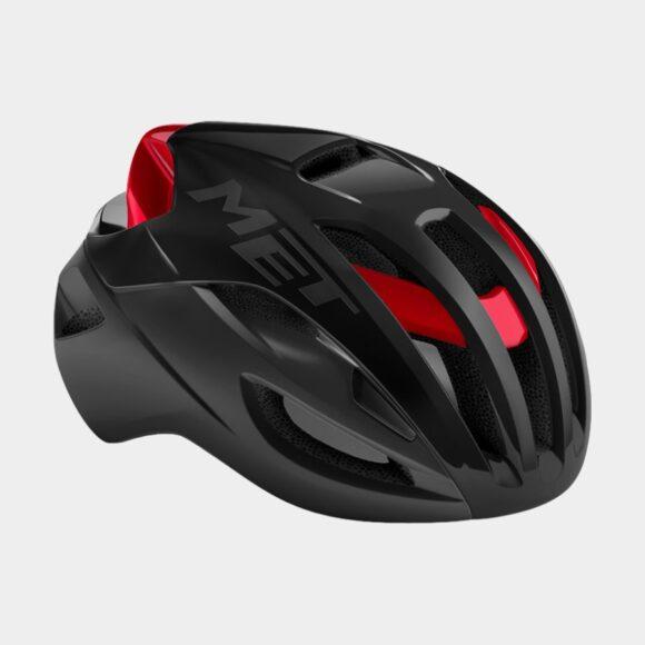 Cykelhjälm MET Rivale Black Red/Matt Glossy, Medium (56 - 58 cm)