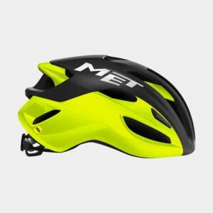 Cykelhjälm MET Rivale MIPS Black Safety Yellow/Matt Glossy, Small (52 - 56 cm)