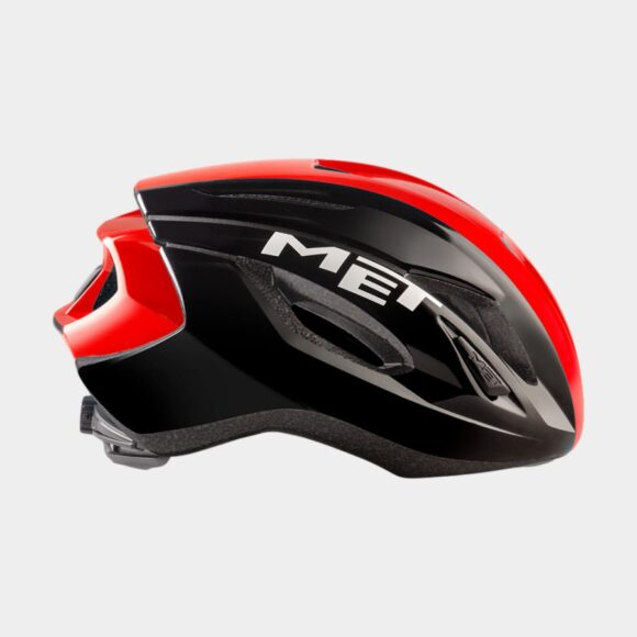 Cykelhjälm MET Strale Black Red Panel/Glossy, Small (52 - 56 cm)