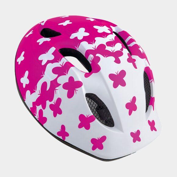 Cykelhjälm MET Superbuddy White Pink Butterflies/Matt, Universal (52 - 57 cm)