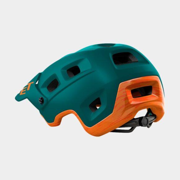 Cykelhjälm MET Terranova Alpine Green Orange/Matt Glossy, Medium (56 - 58 cm)