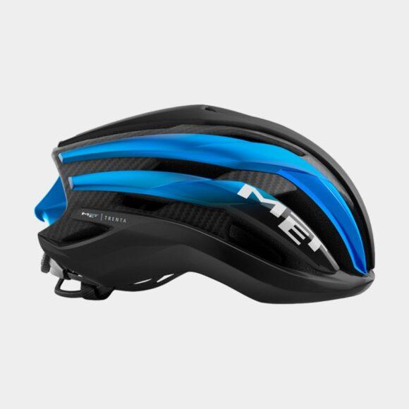 Cykelhjälm MET Trenta 3K Carbon Black Blue Metallic/Matt Glossy, Large (58 - 61 cm)