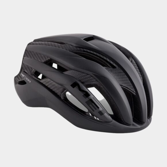 Cykelhjälm MET Trenta 3K Carbon Black Raw Carbon/Matt, Large (58 - 61 cm)