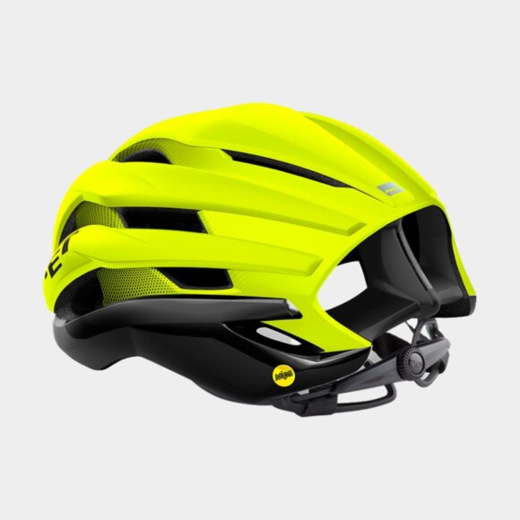Cykelhjälm MET Trenta MIPS Black Safety Yellow/Matt Glossy, Small (52 - 56 cm)