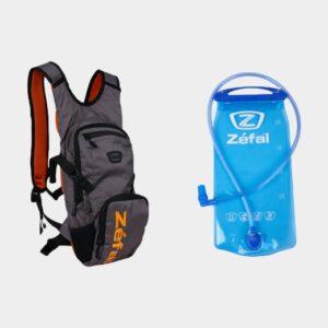 Cykelryggsäck Zefal Z Hydro XC, 6 liter + vätskebehållare (2 liter), grå/orange