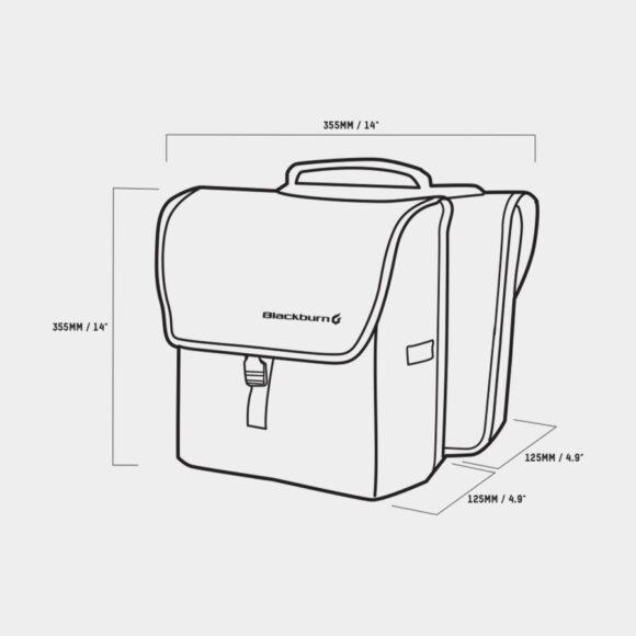 Pakethållarväskor Blackburn Local Saddle Bag, 2 x 13 liter