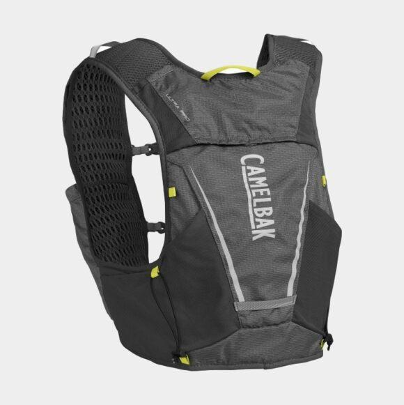 Vätskeryggsäck Camelbak Ultra Pro Vest Graphite/Sulphur Spring, 7 liter + flaskor (2 x 0.5 liter), Medium
