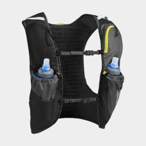 Vätskeryggsäck Camelbak Ultra Pro Vest Graphite/Sulphur Spring, 7 liter + flaskor (2 x 0.5 liter), Small