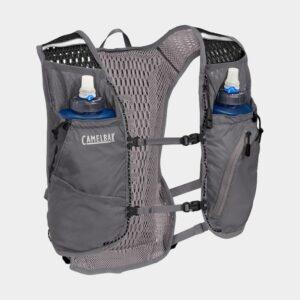 Vätskeryggsäck Camelbak Zephyr Vest Castlerock Grey/Black, 11 liter + flaskor (2 x 0.5 liter)