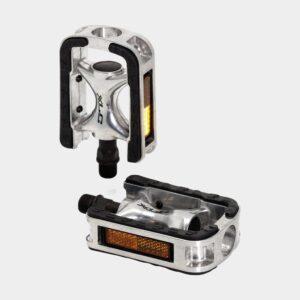 Pedaler XLC PD-C01, 1 par, Standardpedaler, silver/svart