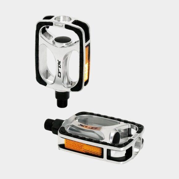 Pedaler XLC PD-C03, 1 par, Standardpedal, silver/svart