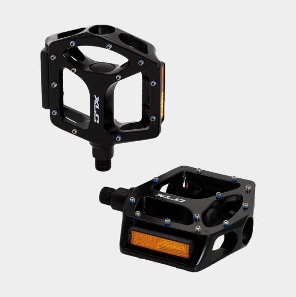 "Pedaler XLC PD-M10, 1 par, Plattformspedaler, svart, 1/2""-gänga"