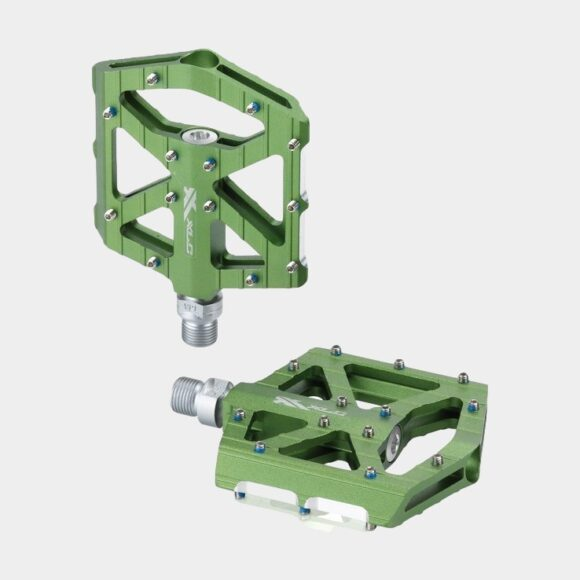 Pedaler XLC PD-M12, 1 par, Plattformspedaler, limegrön