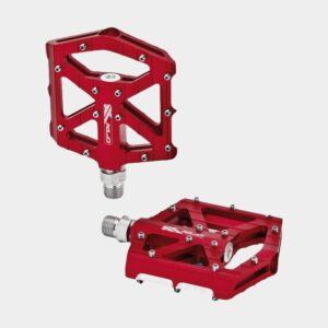 Pedaler XLC PD-M12, 1 par, Plattformspedaler, röd
