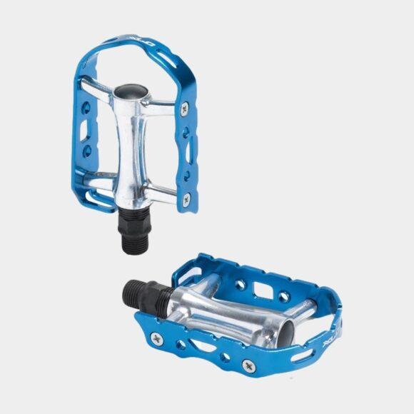 Pedaler XLC PD-M15 Ultralight, 1 par, Standardpedal, silver/blå