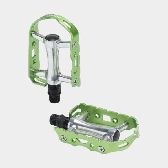 Pedaler XLC PD-M15 Ultralight, 1 par, Standardpedaler, silver/limegrön