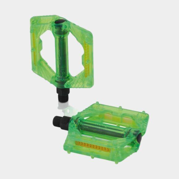 Pedaler XLC PD-M16, 1 par, Plattformspedaler, limegrön