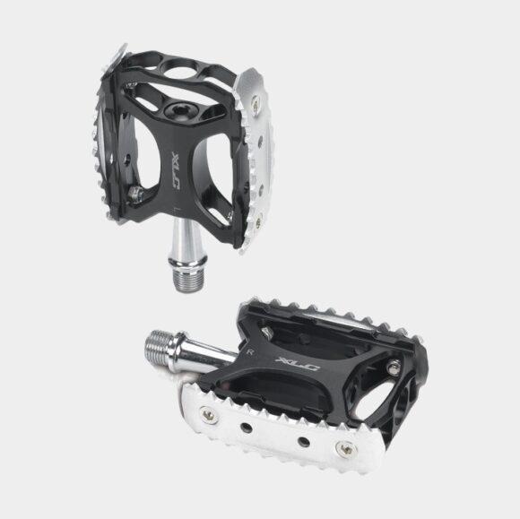Pedaler XLC PD-M17, 1 par, Standardpedaler, svart/silver