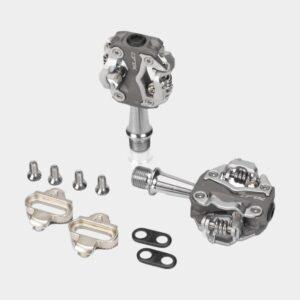 Pedaler XLC PD-S15, 1 par, SPD, grå/silver, inkl. klossar