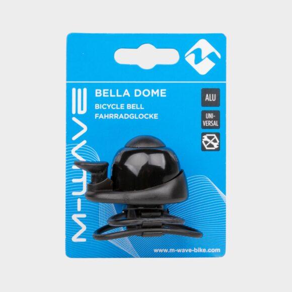 Miniringklocka M-Wave Bella Dome Mini, Ø34 mm, aluminium, svart