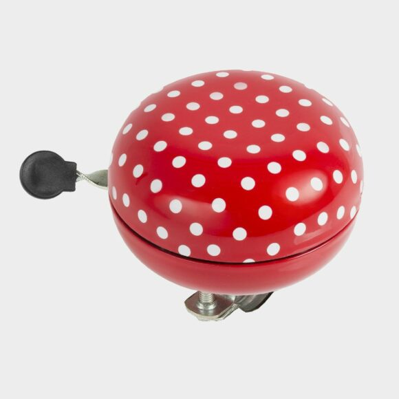 Ringklocka M-Wave Ladybird Maxi Ding-Dong, Ø80 mm, stål, röd