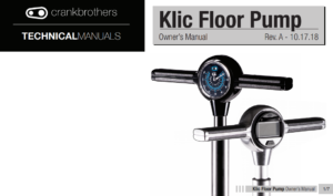 Fotpump Crankbrothers Klic Digital, med digital tryckmätare (manometer)