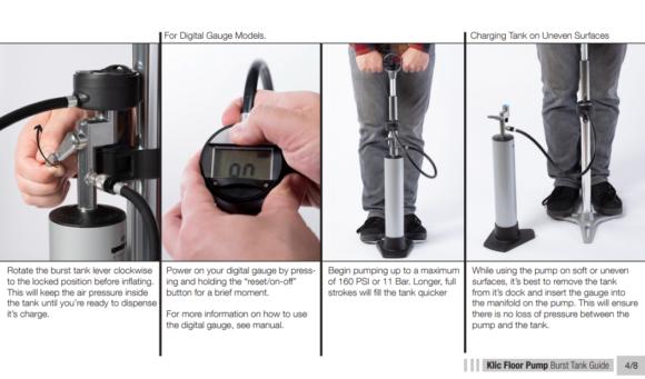 Fotpump och pumpflaska Crankbrothers Klic Digital, 2000 ml, med digital tryckmätare (manometer)