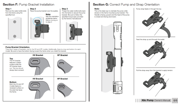 Kolsyrepump och minipump Crankbrothers Klic HP CO2, med extern slang, silver + flaskhållarfäste