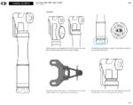 Minipump Crankbrothers Sterling LG Gauge, med analog tryckmätare (manometer) + flaskhållarfäste