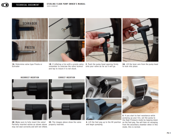 Fotpump Crankbrothers Sterling Analog, med analog tryckmätare (manometer)