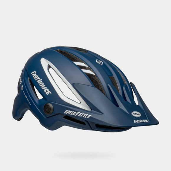 Cykelhjälm Bell Sixer MIPS Matte/Gloss Blue/White Fasthouse, Small (52 - 56 cm)