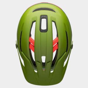 Cykelhjälm Bell Sixer MIPS Matte/Gloss Green/Infrared, Medium (55 - 59 cm)