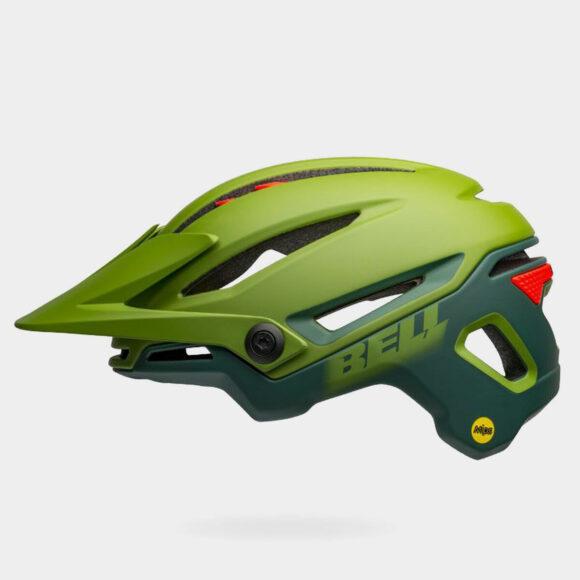 Cykelhjälm Bell Sixer MIPS Matte/Gloss Green/Infrared, Small (52 - 56 cm)