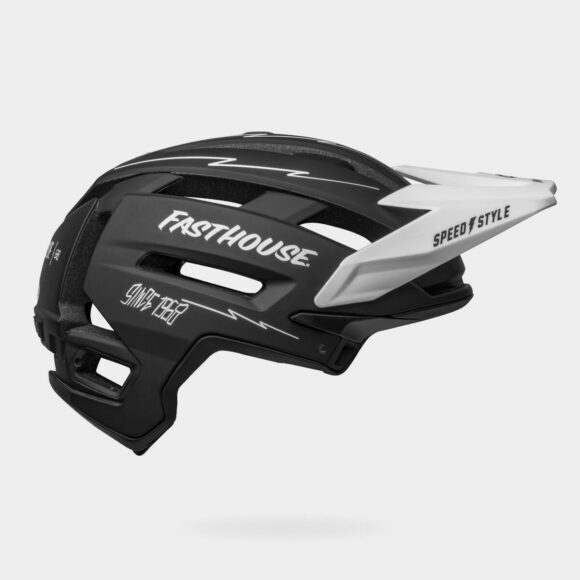 Cykelhjälm Bell Super Air R MIPS Fasthouse Matte Black/White, Small (52 - 56 cm)