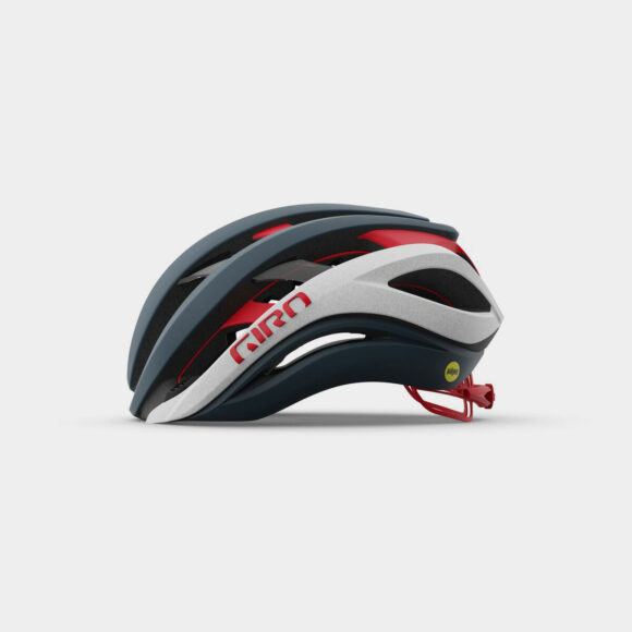Cykelhjälm Giro Aether Spherical MIPS Matte Portaro Grey/White/Red, Large (59 - 63 cm)