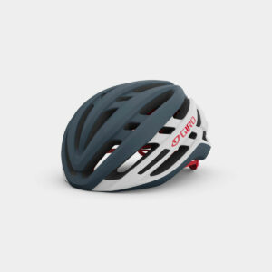 Cykelhjälm Giro Agilis MIPS Matte Portaro Grey/White/Red, Medium (55 - 59 cm)