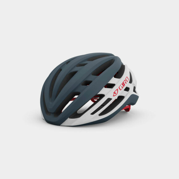 Cykelhjälm Giro Agilis MIPS Matte Portaro Grey/White/Red, Small (51 - 55 cm)