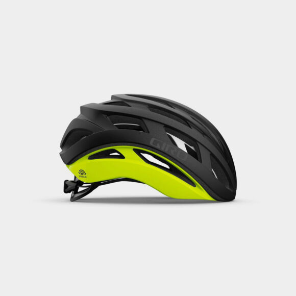 Cykelhjälm Giro Helios Spherical MIPS Matte Black/Highlight Yellow, Large (59 - 63 cm)